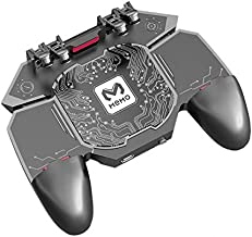 Mobile Phone Controller, PUBG Trigger Controller with fast cooling fan, 6 fingers grip gamepad, L1R1 trigger phone game Radiator, fits for PUBG/Fotnite/Rules of Survival Game/COD