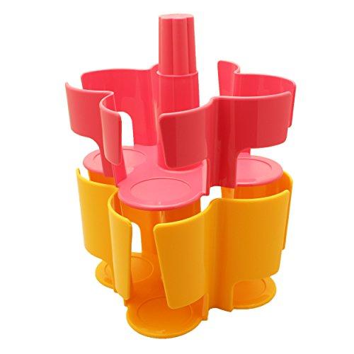 Tassimo Koziol Carousel / Karussel T-Disc Halter, 2-tlg., für 40 T-Discs, Kaffee Kapselhalter, Kunststoff, Pink / Gelb