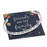 M MOOHAM Friend Gifts for Women, Friend Bracelet Friendship Gifts for Women, Friends are The Family We Choose Bracelet