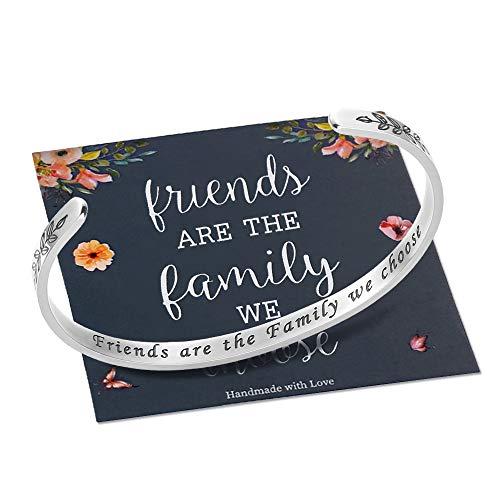 M MOOHAM Friends are The Family We Choose Bracelet, Friendship Gifts Best Friend Bracelets for Women Birthday