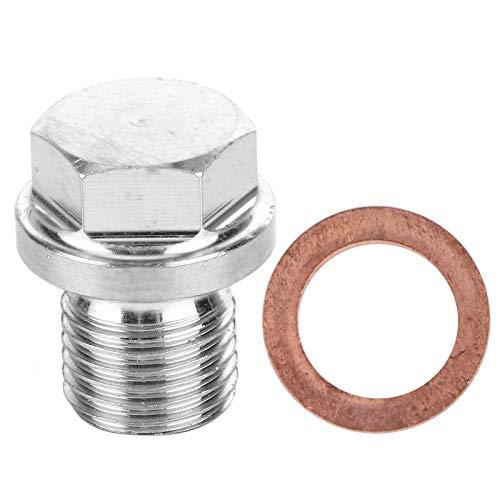 2 piezas de tapón de escape del sensor de oxígeno con juego de juntas de repuesto M12x1.25mm/0.05in TK-CGQ144