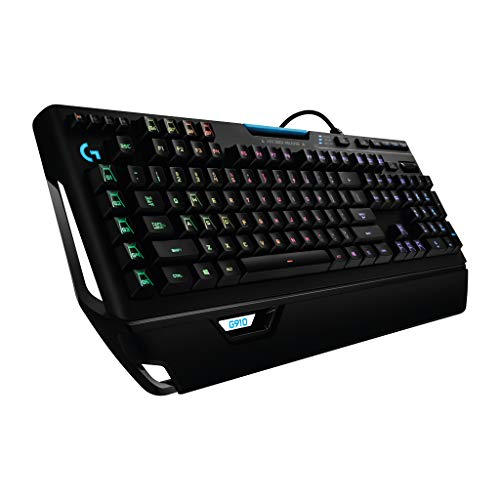 Logitech G910 Orion Spectrum Mechanische Gaming-Tastatur, RGB-Beleuchtung, Taktile Romer-G Switches, 9 Programmierbare G-Tasten, Anti-Ghosting, ARX-Zweitbildschirm Feature, Französische AZERTY-Layout
