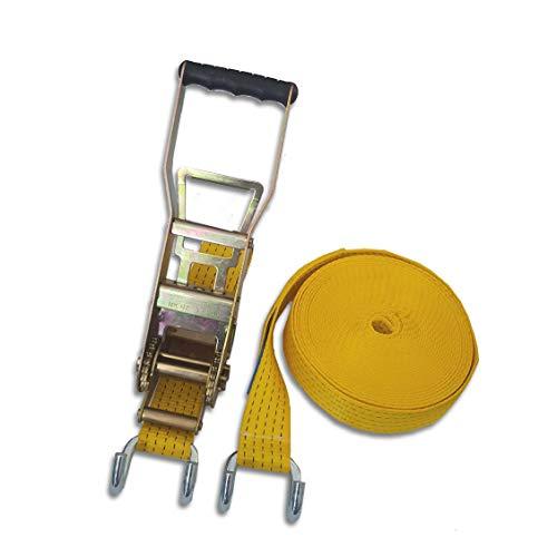 Trupa Spanngurt 5to 30m 50 mm Langhebelzugratsche/Klauenhaken gelb