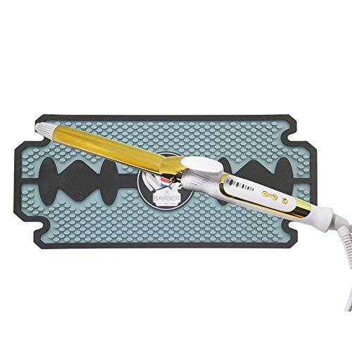 YUXINCAI 2 STÜCKE Friseurarbeitsplatz Mat Clippers Matten Flexible PVC Schwere rutschfeste Bar Service Matte Kissen, Hitzebeständige Pad Werkzeuge für Styling Haartrockner Haarschneider