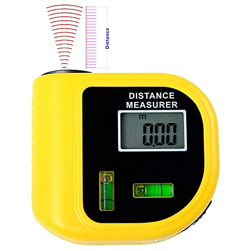 JAJU Mini telémetro de 2 Piezas, telémetros láser de Mano de 18 m, Cinta métrica ultrasónica para medir distancias, para la decoración del hogar, Industria de Ingenieros de TI