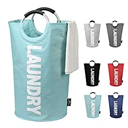 top 10 laundry bag for college student DOKEHOM 82L Large laundry basket (6 colors), foldable fabric basket, foldable clothing …