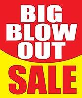 Big Blow Out Sale Store ビジネス 小売販売 ディスプレイサイン 18インチ x 24インチ フルカラー 5パック