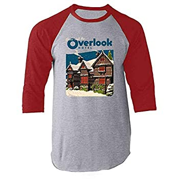 Come Visit The Overlook Hotel Vintage Travel Red M Raglan Baseball Tee Shirt