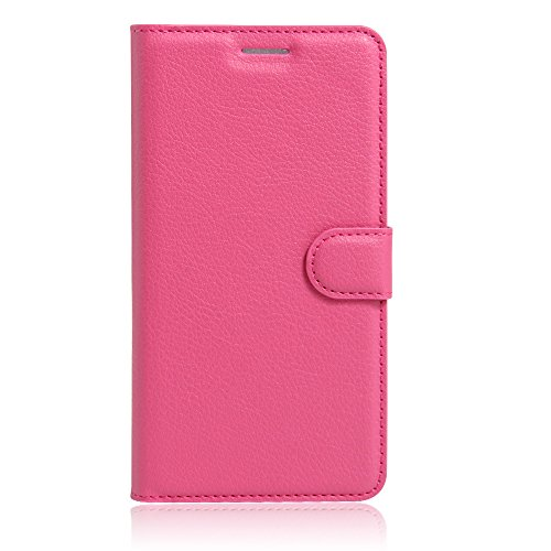 UMI Rome X Case, Mixneer Fashion Wallet Folio Sleeve Magnetic PU Flip Leather Holder Stand Soft TPU Inner Bumper Protective Case Cover for UMI Rome X - Rose