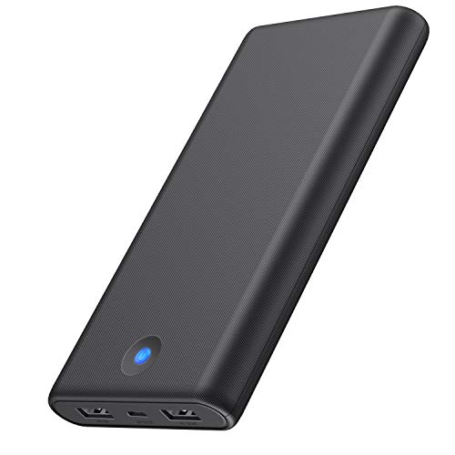 Portable Charger Ekrist 25800mAh, High Capacity Ultra Slim Power Bank with 2 USB Ports & Colorful Indicator,Power Delivery External Cell Phone Battery Pack for Smart Phone, Samsung Android, Table etc