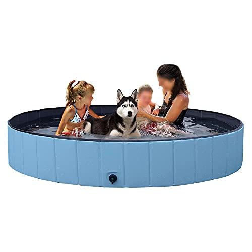 YAHEETECH Foldable Bath Pool Collapsible Large Pool Bathing Swimming Tub Kiddie Pool