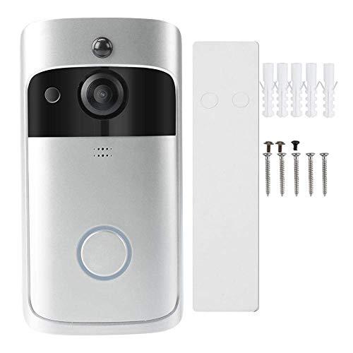 JUNYYANG Timbre de intercomunicación inalámbrica, Seguridad de 720p Smart WiFi Video Intercom Timbre Wireless IR Night Vision Cámara Doorbell para el hogar y la Oficina
