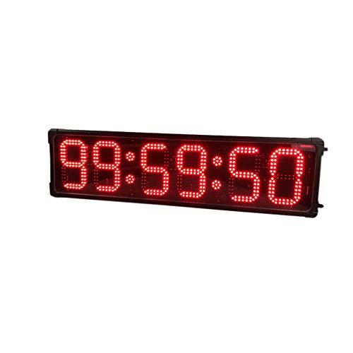 LED Temporizador de Intervalos 8 Pulgadas 6 Dígitos de Doble Cara de Cuenta atrás...