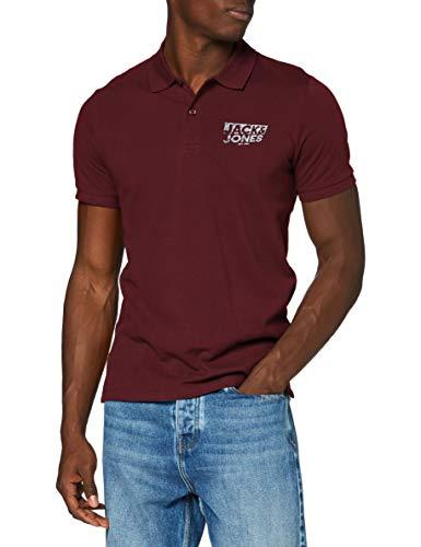 JACK & JONES Herren JJHERO Polo SS CAT Shirt, Port Royale/Fit:Slim. CORE Print, L