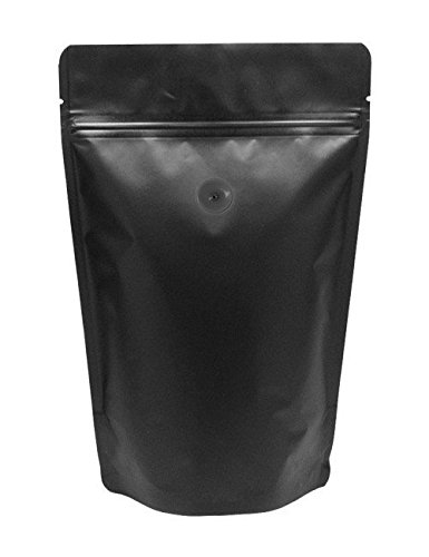 Find Discount BAP 8 oz Matte Black Stand Up Pouch, Valve for Coffee (1000 pcs)