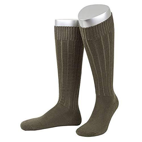 JD 3 Paar B&eswehr Strümpfe/Socken mit Plüschsohle lang, produziert in Deutschland (Oliv, 45/47)
