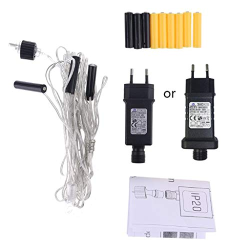 Adaptador de batería AA AAA Eliminador de pilas Reemplaza 2 x 3 x AA AAA cable de batería para radio Holiday LED lámpara de luz juguete eléctrico enchufe UE