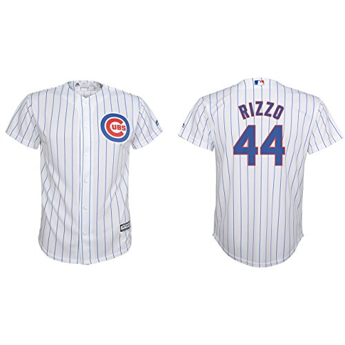 Anthony Rizzo Chicago Cubs Youth Cool Base White Replica Jersey Large 14-16