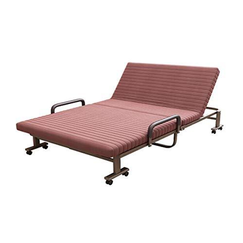 HENG opklapbed, slaapbank, opklapbed voor tweeërlei gebruik, woonkamer, tweepersoonsbed, multifunctioneel opklapbed, bruin (90/120cm breed)