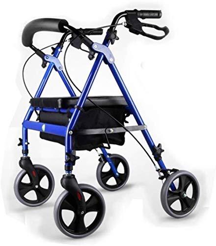 Rollatoren Oudere trolley Walker Oudere generaties Folding Kleine Puller Oudere Walker Lichtgewicht rollator opvouwbaar