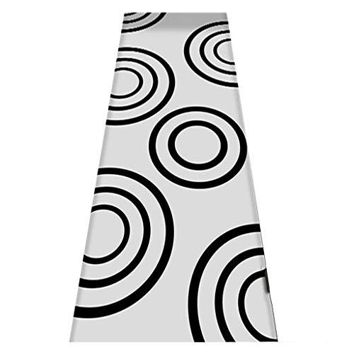 QianDa Alfombra Salon Alfombras Pasillo For Cocina Paso Entrada Pasillo Antideslizante Arcos Y Formas Geométrica Moderna Zona Alfombra (Size : 140x400cm)