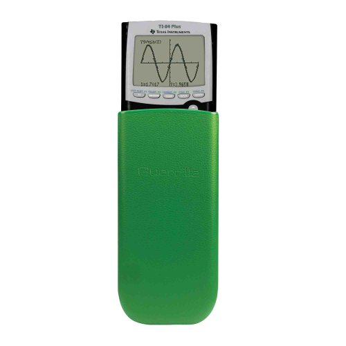 Guerrilla Leather Hard Slide Case-Cover for TI-84 Plus, TI 84-Plus C Silver Edition, TI-89 Titanium Graphing Calculator, Green