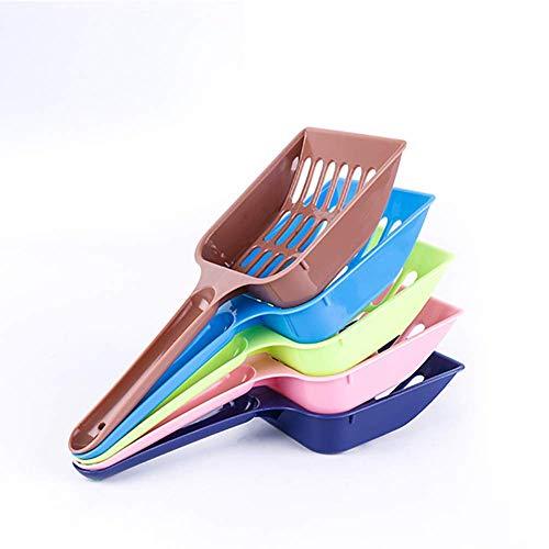 PULABO ????Kunststoff Katzenstreu Scoop Pet Sand Abfall Scooper Schaufel Hohl Reinigungswerkzeug Zufällige Farbe Praktisch