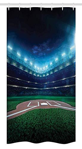 Nyngei Puestode béisbol deCampode béisbol Profesional en la Noche Estadiode Juegos Vibrante Liga Tema Imprimir Juegode de con Azul Verde