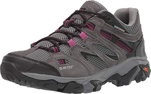 HI-TEC Ravus Vent Low WP Hiking Boots - Women's, Charcoal/Cool Grey/Amarath, Medium, 9, 24128-M090