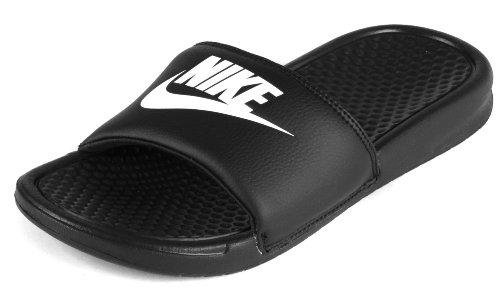 Nike Men's Benassi Just Do It Athletic Sandal, black/white black, 11 D US