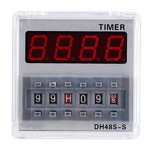 Auoeer Tiempo de retraso Relé, 12V / 24V / 380V Tiempo de retardo programable Tiempo de retraso Temporizador 0.1S-99H 8-Pin DH48S-S (# 3)