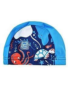 Splash About - Gorro de natación Unisex para bebé bajo el mar, Unisex bebé, Gorro de natación, SHUS0, Bajo el mar, 0-18 Meses