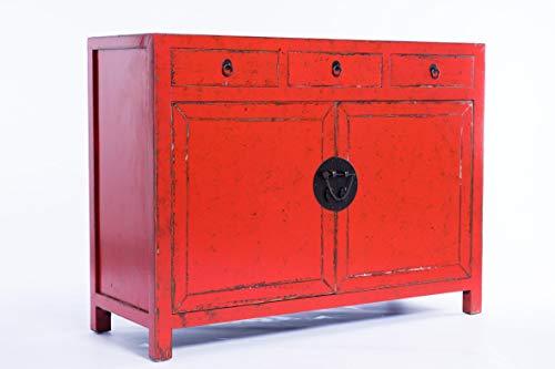 Kulunka Deco APARADOR Medidas: 117 X 43 87CM Rojo Olmo Oriental