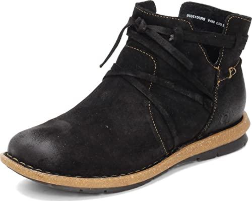 BORN Women's, Tarkiln Ankle Boot Black Distressed 9 M