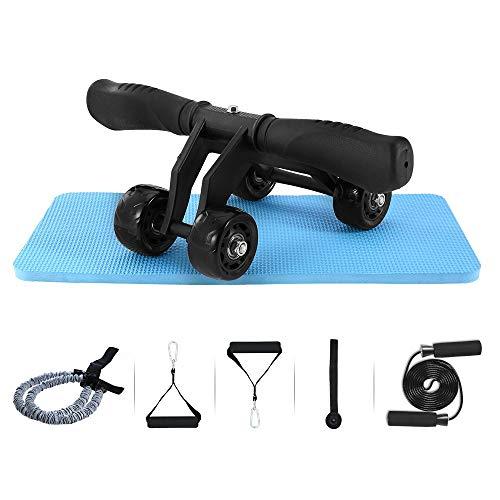 LZZJ Juego de ruedas de ajuste para fitness, sin ruido, rueda abdominal, brazo de cintura, pierna ejercicio, multifuncional, equipo de fitness