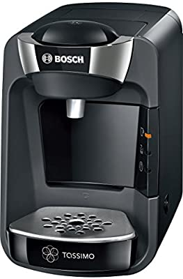 Tassimo Bosch Suny TAS3202GB Coffee Machine, 1300 W, 0.8 Litre - Black