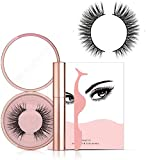 Pestañas magnéticas Eyeliner Set Liquid Eyeliner Set de pestañas postizas tridimensionales Imanes de pestañas de calidad Reutilizable Flase(Delineador de ojos líquido + Doha-5 + Pinzas)