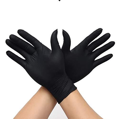 Guantes de limpieza OMELODY, reutilizables, ideales para lavar platos, cocina, cuidado del cabello, guantes de jardinería y más (50 pares), negro, Disposable Gloves S
