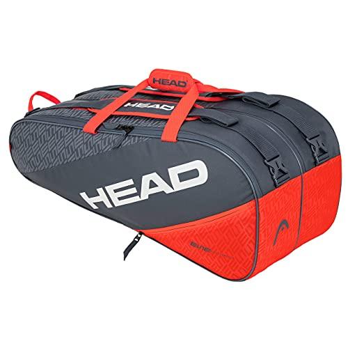 Head Elite 9R Supercombi Bolsa de Tenis, Adultos Unisex, Gris/Naranja