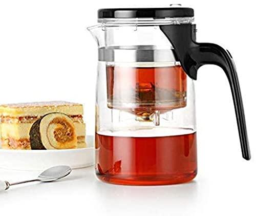 Tetera de Gongfu de alto grado y taza 500 ml Tetera de vidrio SAMA Art Tea Cup para Dian Hong té negro (olla interior)