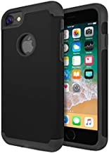 iBarbe Case Compatible with iPhone 6 Plus Case,iPhone 6S Plus 5.5 inch Case,Slim Fit Dual Layer Soft Silicone & Hard Back Cover Bumper Shock-Absorption Skid-Proof Anti-Scratch Anti Slip-Black