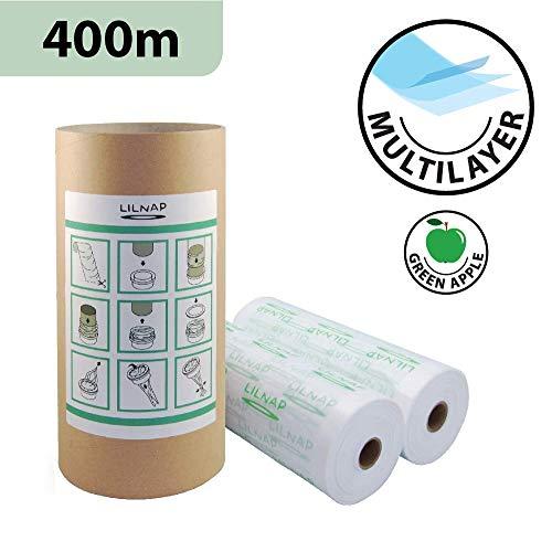 Nachfüllpackung für Windeln, mehrschichtig, leicht parfümiert, mit geruchshemmender EVOH, kompatibel mit Sangenic Tommee Tippee & Sangenic Tec (400 m + Papphülse)