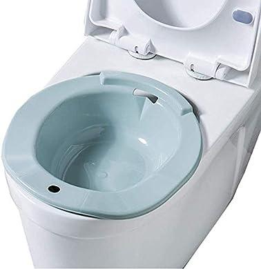Foto di AGDLLYD Bidet Portatile per WC Universale,Bidet Portatile per Donne in Gravidanza,Rialzo WC e Bidet in per Anziani e Disabili,Adatto a tutti i WC Standard,Blu