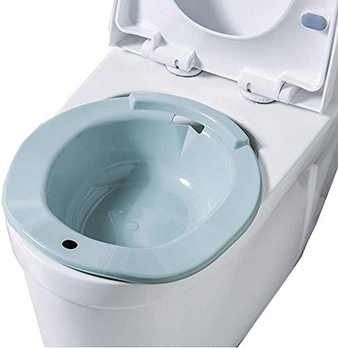 Aiitllyna Bidet Bidetbecken,Sanitärbidet, Bidet Einsatz für Toilette - 100{218390592f79ac3f5eb59a766fcd686330e49946771ae4e3cc27480bb306eacb} bruchsicher - Ideale Sitzbadewanne Toiletteneinsatz für Schwangere,blau