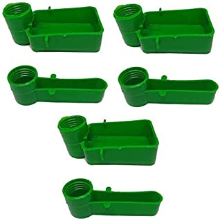 Bird Cage Drinker Feeder for Any Bottle Fit Green (Pack of 3)