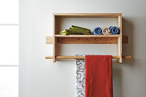 Warm klein huis C-Bin1 Creatieve opslag Rack, Woonkamer Slaapkamer Opslag Rek Muur Ophangen Boekenplank Effen Hout Klapbord Frame Multifunctionele Opslag Rek Lengte 70-90CM Meer decoratie