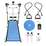 YIFAA Tapis de Course Pliable pour Marche, Jogging et Fitness, 145x54x110cm (Bleu)