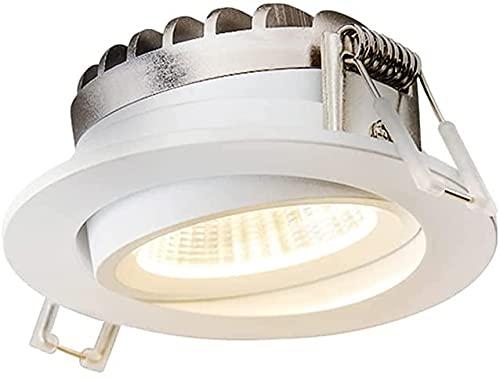 PJDOOJAE Embedded LED Dirección Ajustable LED Luz de luz Spotlight Lighting LED Light Light Lights Downlights 30 ° Ángulo Ajustable Luz de Techo Luz Redonda Corte de mazorca Ø75MM Luces de Cocina CRI