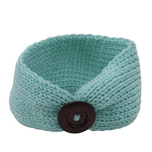 HJUEY Strickendes Wollstirnband Für Kinder Handgewebtes, Warmes, Nahtloses Haarzubehör Für Jungen Und Mädchen,Blau