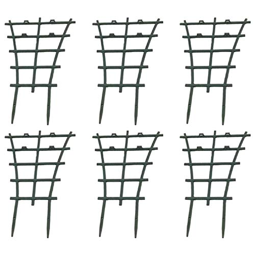 SODIAL Topfgitter, 6-Teiliges Gitter für Zimmerpflanzen, DIY-GartenpflanzenunterstüTzung, üBerlagerung, Topfkletterblumenhalterung